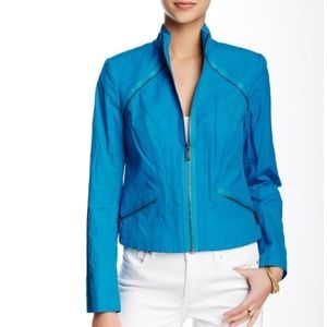 Elie Tahari Small Orital Jacket Apollo Blue Moto